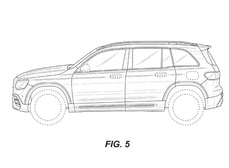 新型メルセデス・ベンツ GLB AMG45 流出した特許画像