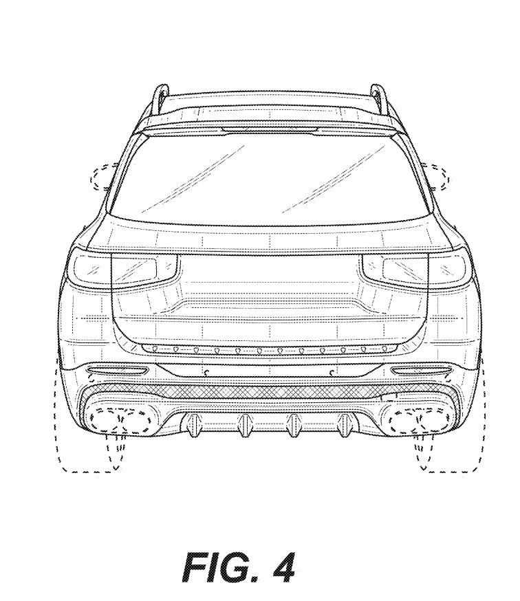 新型メルセデス・ベンツ GLB AMG45 流出した特許画像 リア