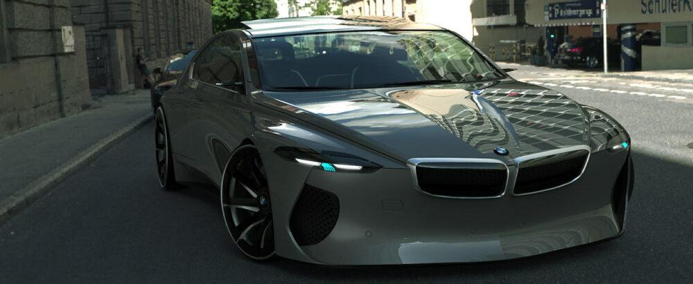 復活新型6シリーズクーペ デザイン予想CG フロントノーズ