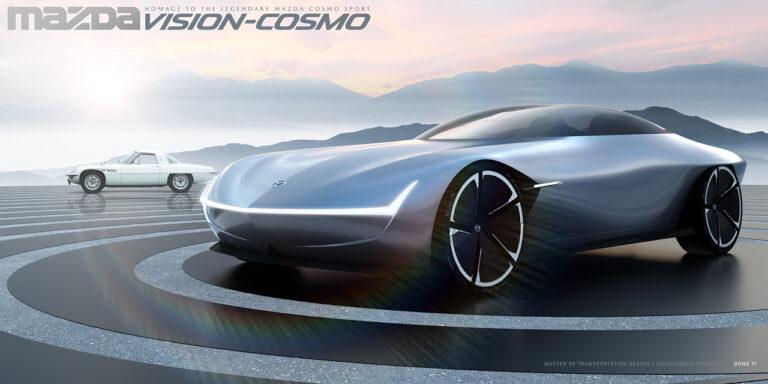 復活新型マツダ コスモスポーツのデザイン予想CGを入手!ロータリー復活の可能性は?