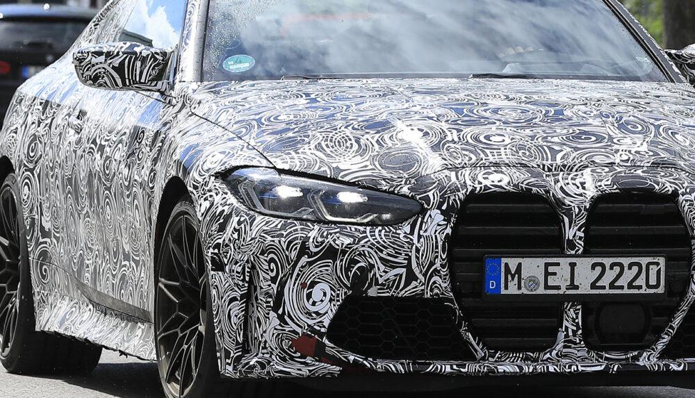 次期新型BMW M4クーペ プロトタイプ スパイショット フロント拡大