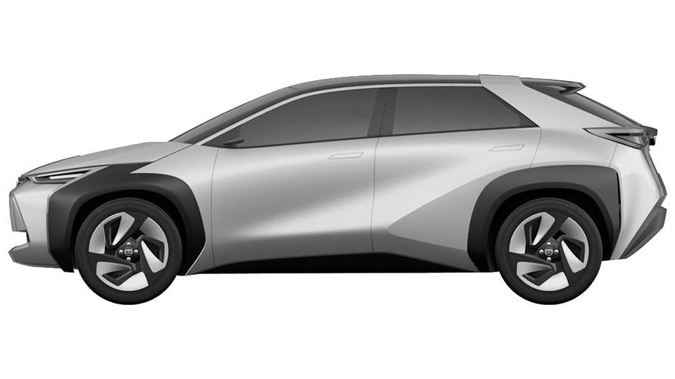 新型トヨタ EV・SUV 特許画像流出 ボディサイド