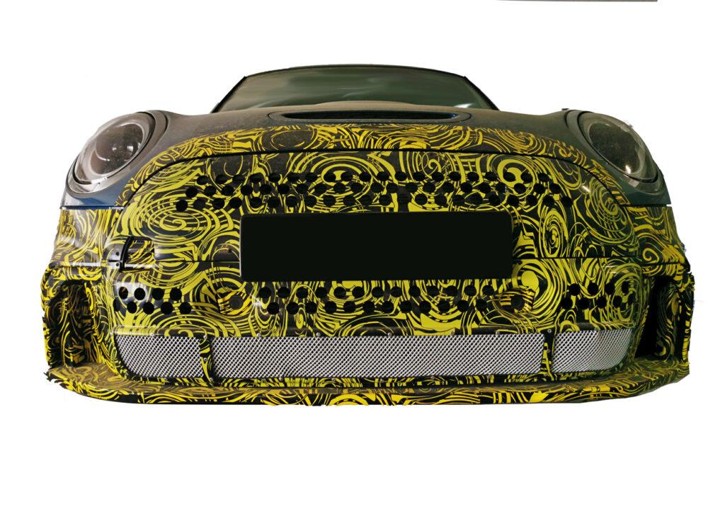 改良新型MINI クーパーS プロトタイプ スパイショット フロント部拡大