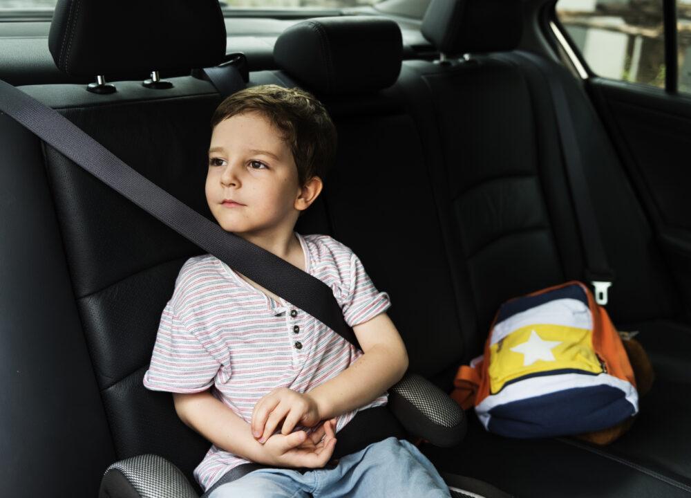 シートベルトをしている子供