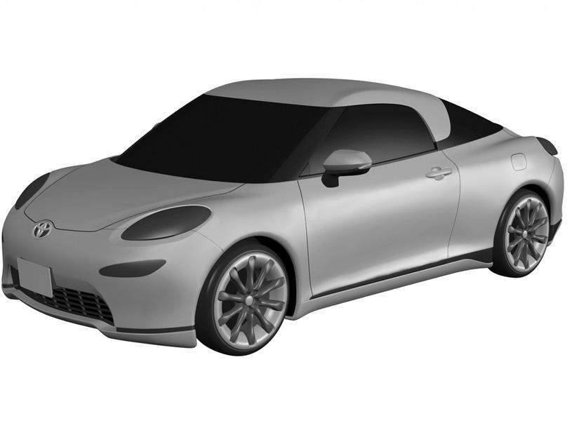 トヨタ MR2 デザイン特許画像流出 フロントとボディサイド