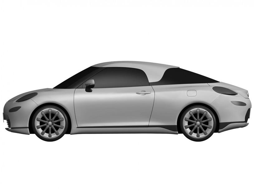 トヨタ MR2 デザイン特許画像流出 ボディサイド