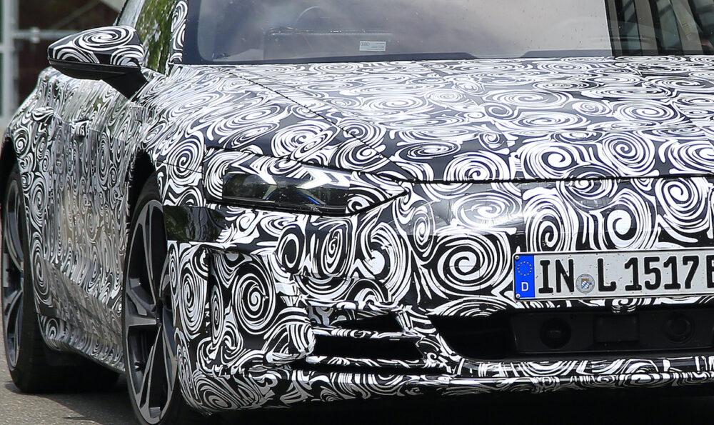 新型アウディ e-tron GT 市販型プロトタイプ スパイショット フロント拡大