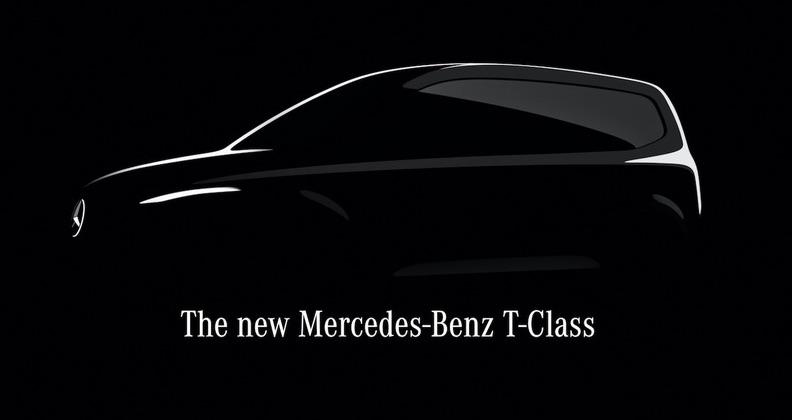 メルセデス・ベンツ(ドイツ)が初公開した新型ミニバン「Tクラス」のティザー画像。