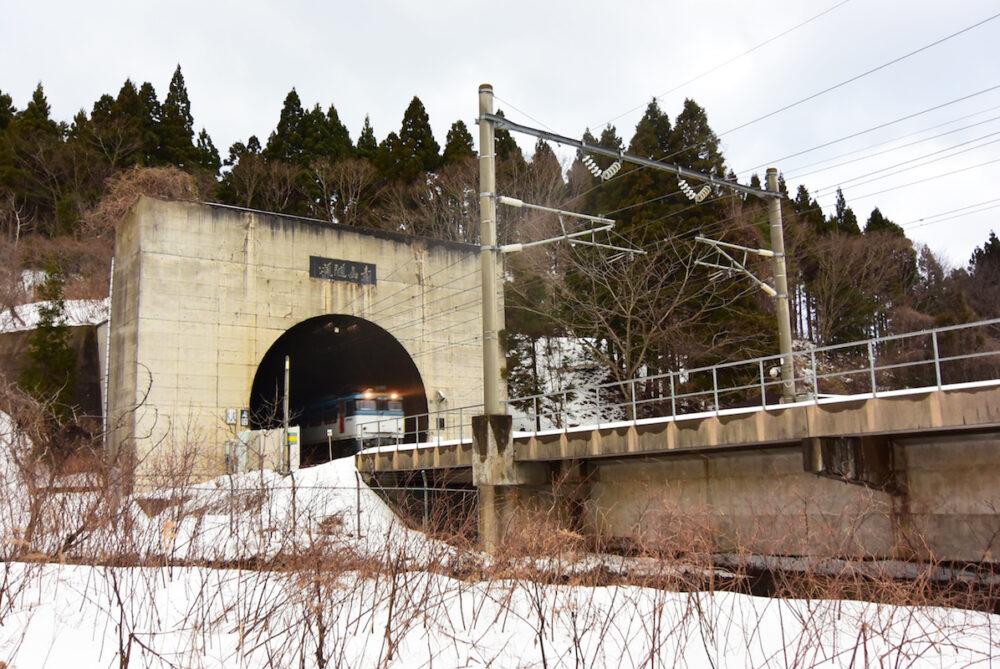 青函トンネルの入り口