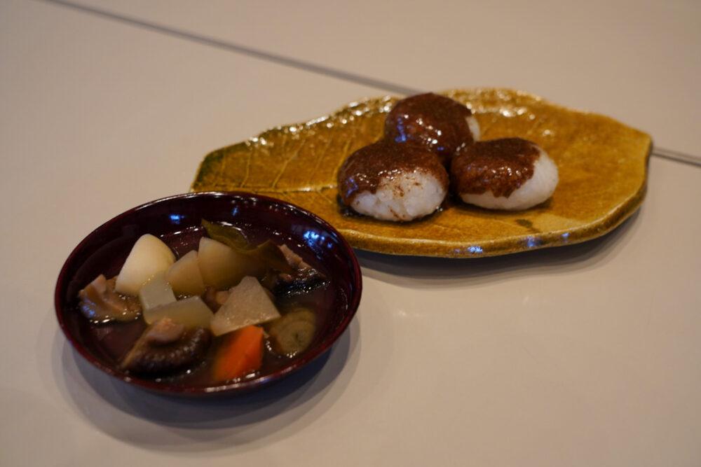信州木曽ふるさと体験館 五平餅持ちと田舎風煮物