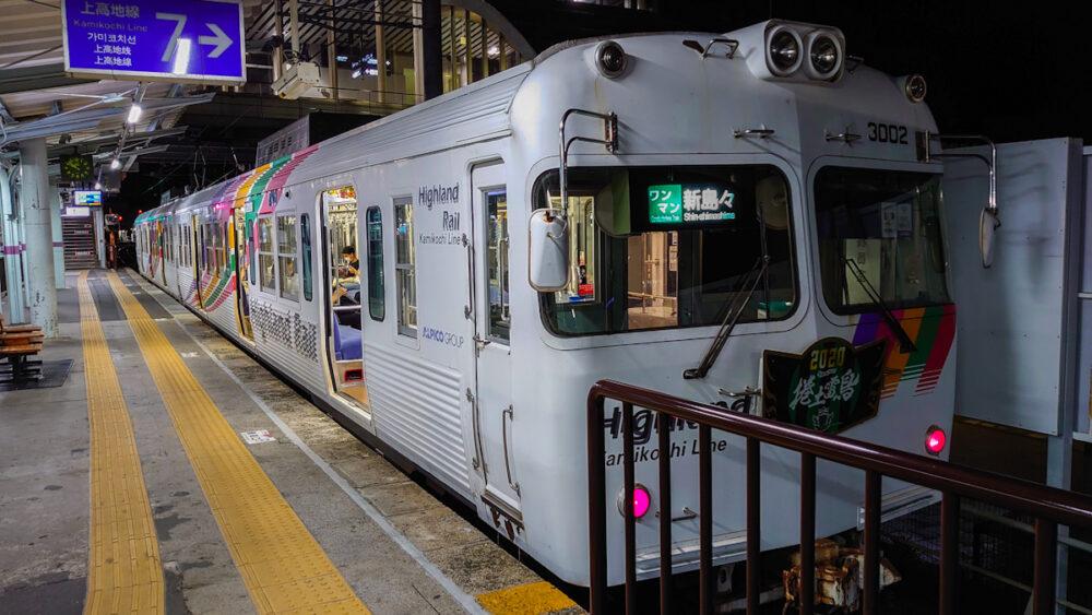 松本駅 アルピコ鉄道3000系