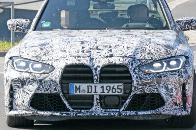 BMW次期新型M3、M4をダブルスクープ!ついに巨大キドニーグリルを見せた!