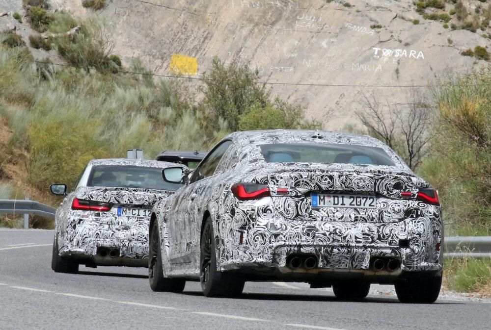 次期新型 BMW M3・M4 プロトタイプ スパイショット リア