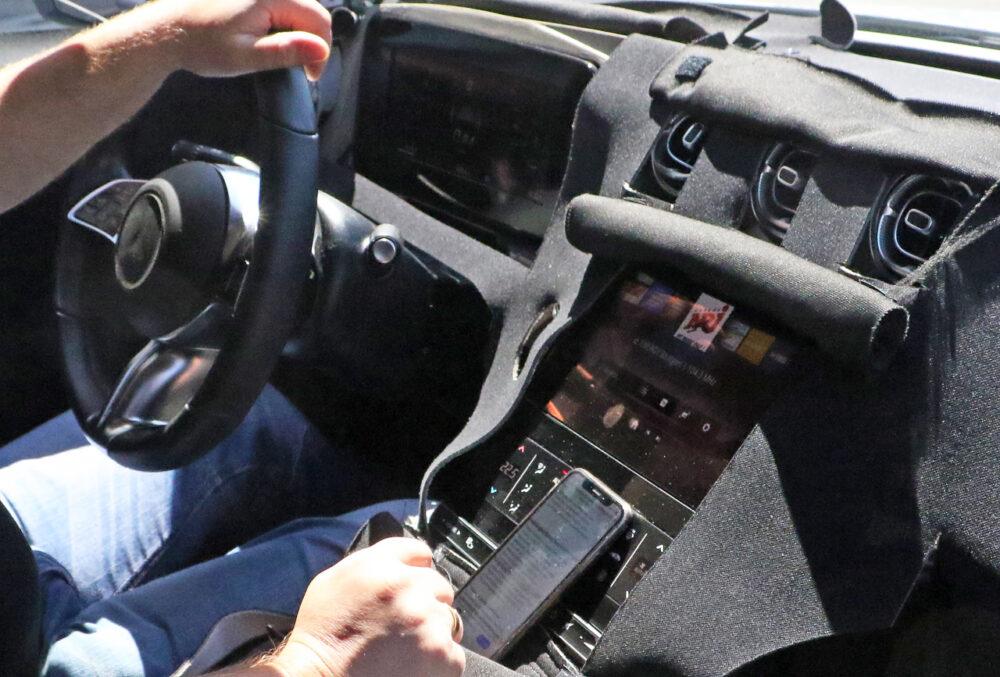 次期新型メルセデス・ベンツ Cクラス ステーションワゴン プロトタイプ スパイショット インテリア