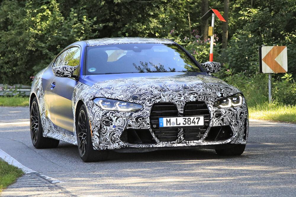 次期新型BMW M4クーペ プロトタイプ スパイショット