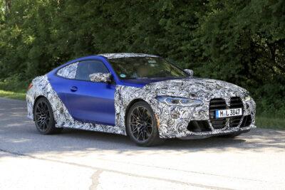 次期新型BMW M4クーペ デビュー迫る!ボディの一部が露わに!