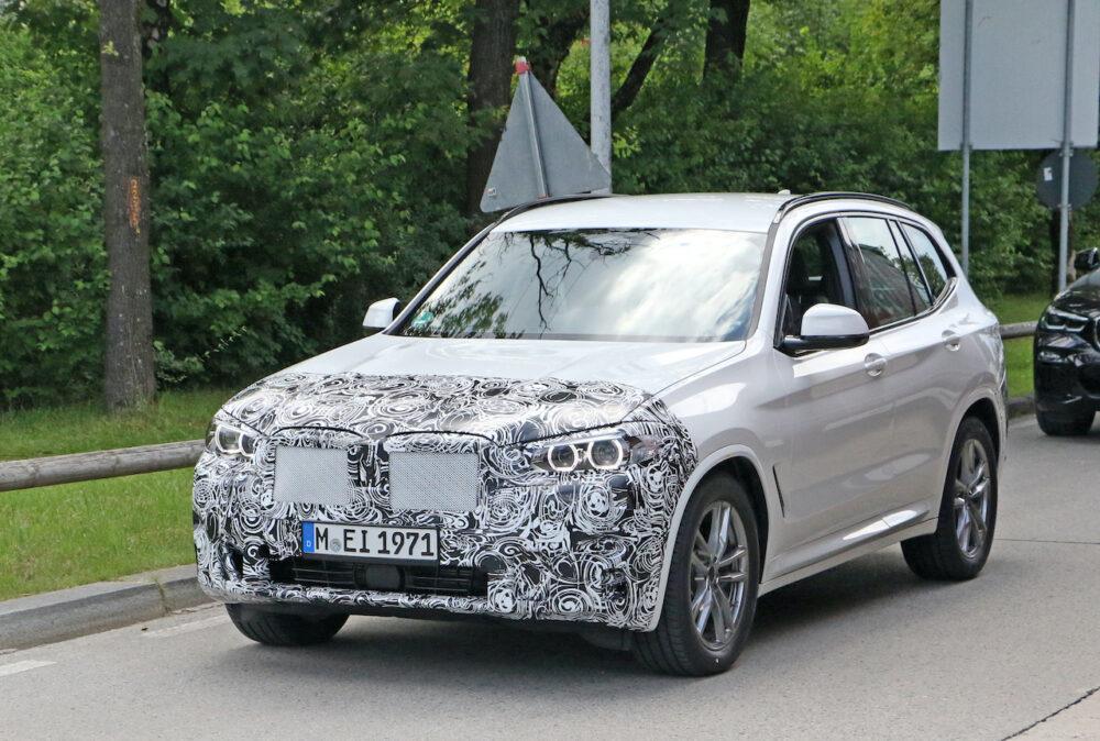 改良新型 BMW X3 プロトタイプ スパイショット フロント