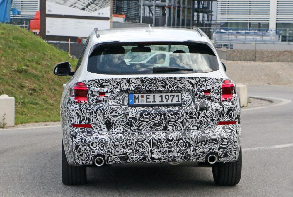 改良新型 BMW X3 プロトタイプ スパイショット リア