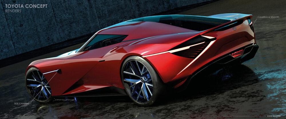 トヨタ H2+コンセプト デザイン予想CG リアサイド