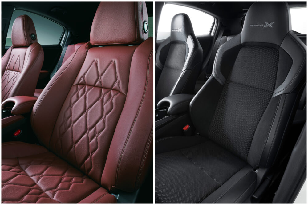 ヴェゼルのTOURING 本革シート(ブラウン)とModulo X専用フロントシート