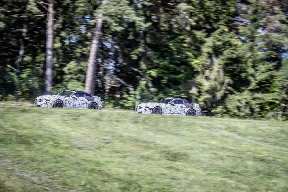 次期新型メルセデス・ベンツ SL プロトタイプ スパイショット  ボディサイド