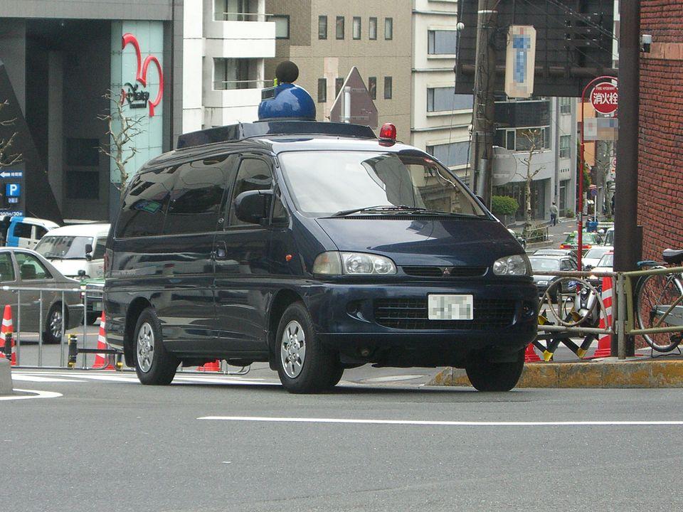 警視庁の騒音測定車