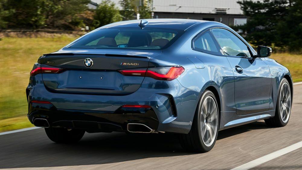 新型BMW 4シリーズクーペ。 リア