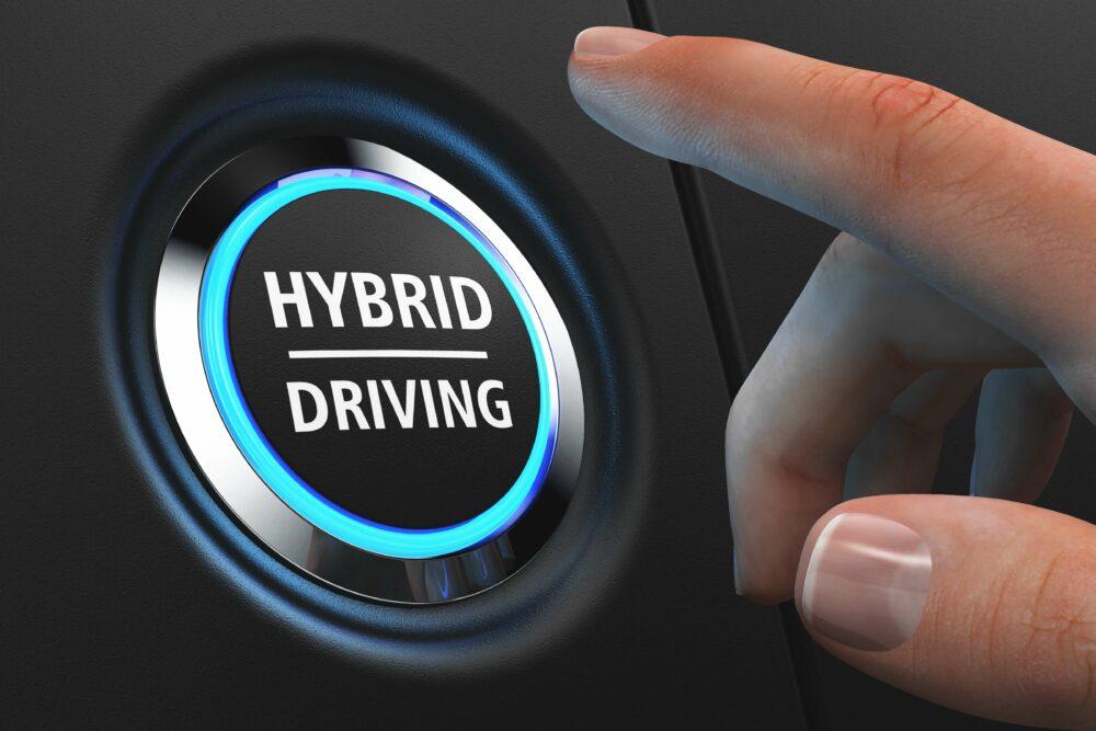 hybrid_drivingと描かれたボタン