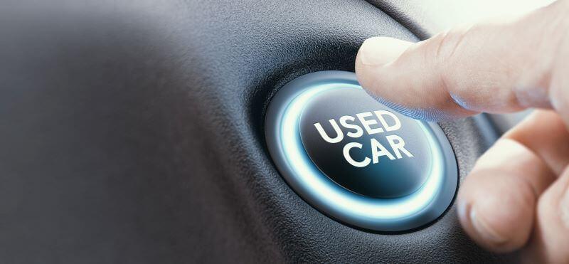 中古車の選択ボタン