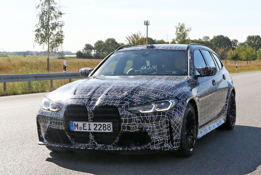 新型BMW M3ツーリング プロトタイプ スパイショット フロント