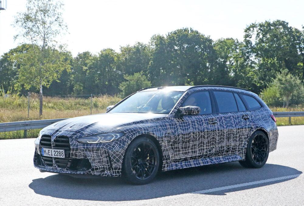 新型BMW M3ツーリング プロトタイプ スパイショット フロントサイド