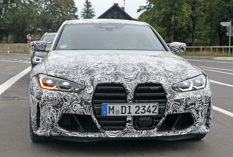 次期新型 BMW M3 プロトタイプ スパイショット フロント