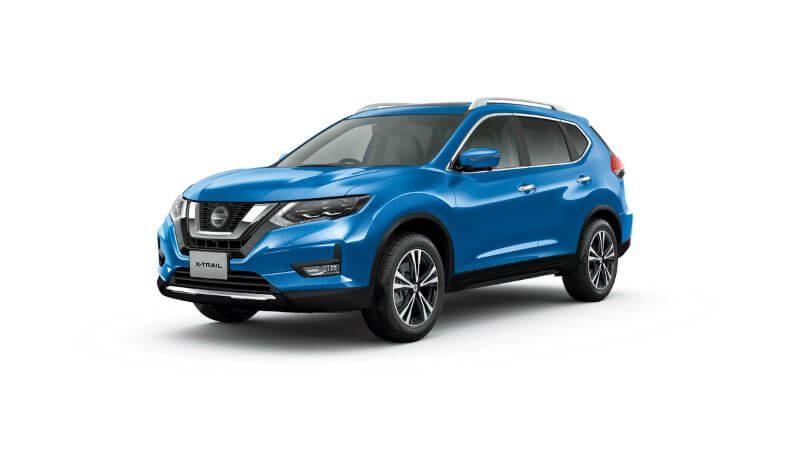日産 エクストレイル 20Xi(4WD) ボディカラー シャイニングブルー(PM) 〈#RAW・スクラッチシールド〉 内装色 ブラック〈G〉