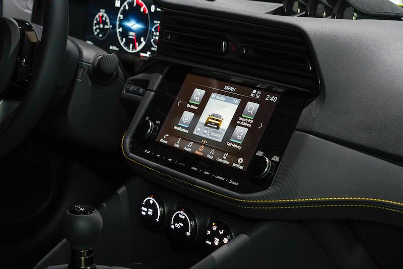 次期新型 日産フェアレディZ プロトタイプ インフォテインメントシステムディスプレイ