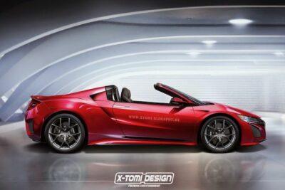 ホンダ NSX タイプR スパイダーがデビューか!新型オープンカーのデザイン予想CGを入手