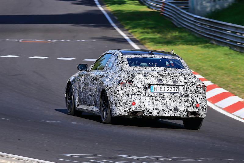 次期新型BMW 2シリーズ クーペ M240i プロトタイプ スパイショット リアサイド