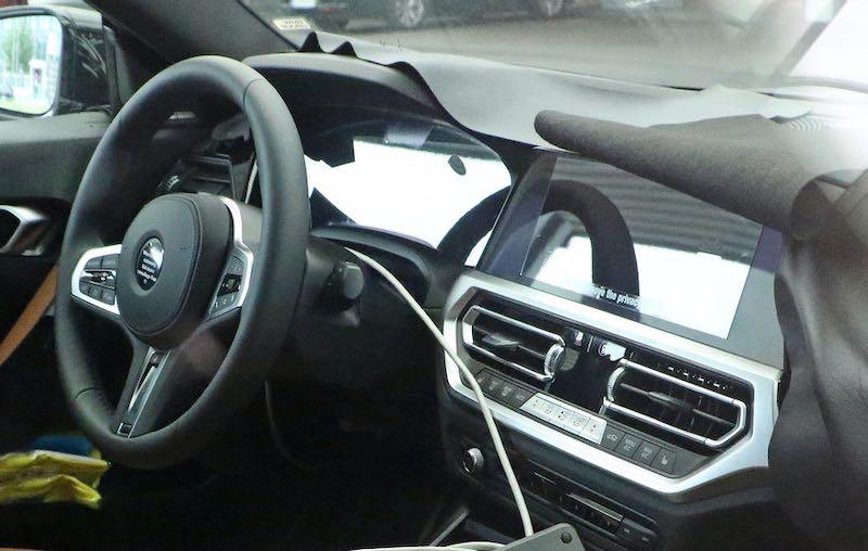 次期新型BMW 2シリーズ クーペ M240i プロトタイプ スパイショット インテリア