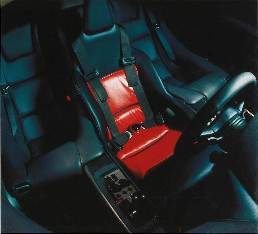 マクラーレン F1の3人乗りシート