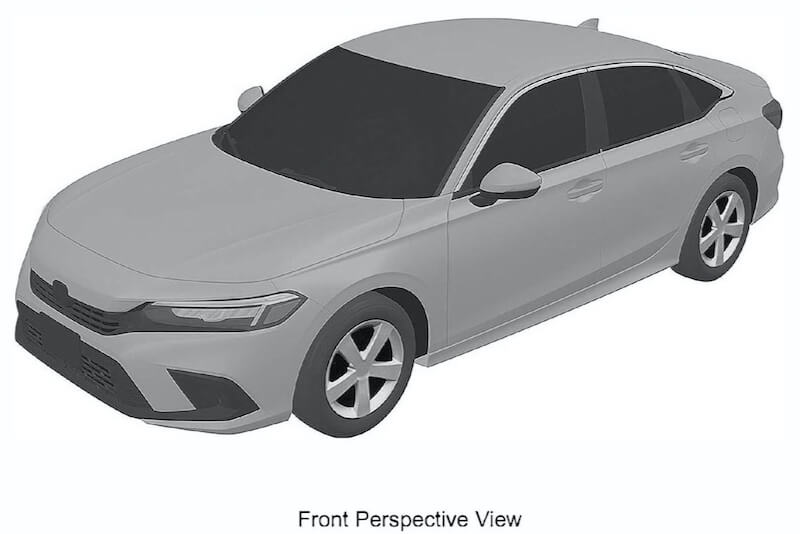 流出したシビック セダン 次期新型デザイン特許画像