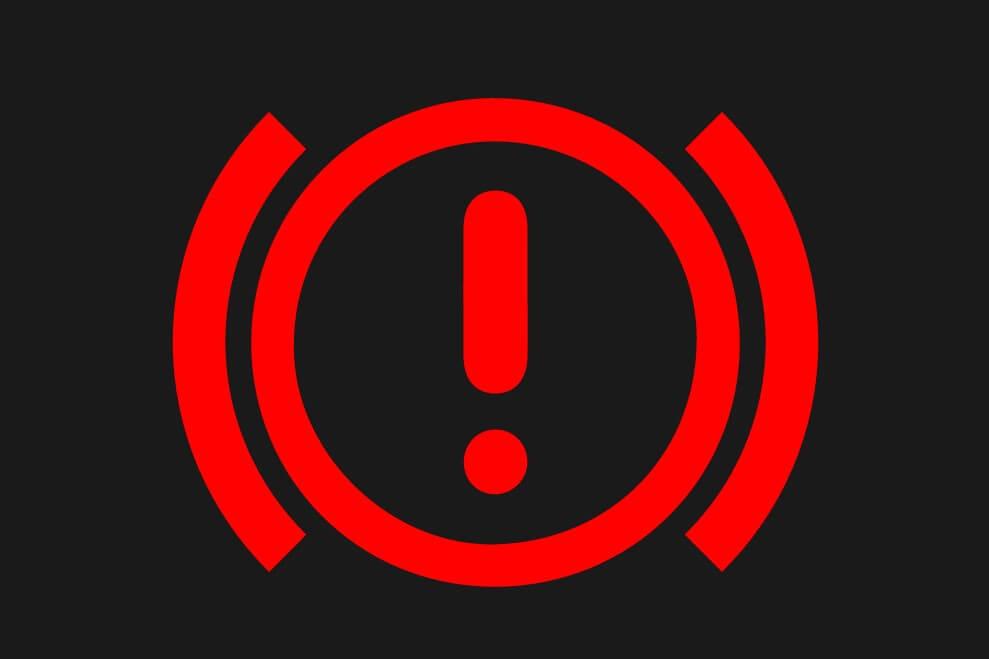 ブレーキ警告灯(赤)のマーク