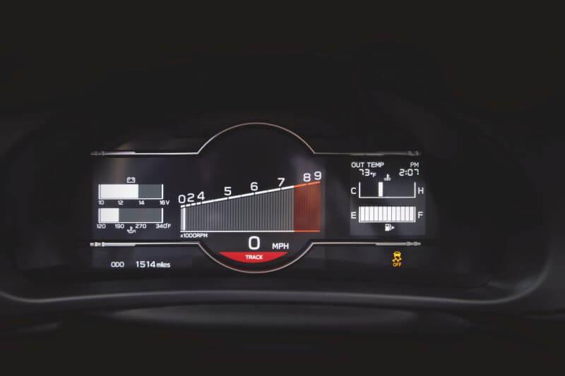 新型 スバル BRZ 北米仕様 メータークラスター