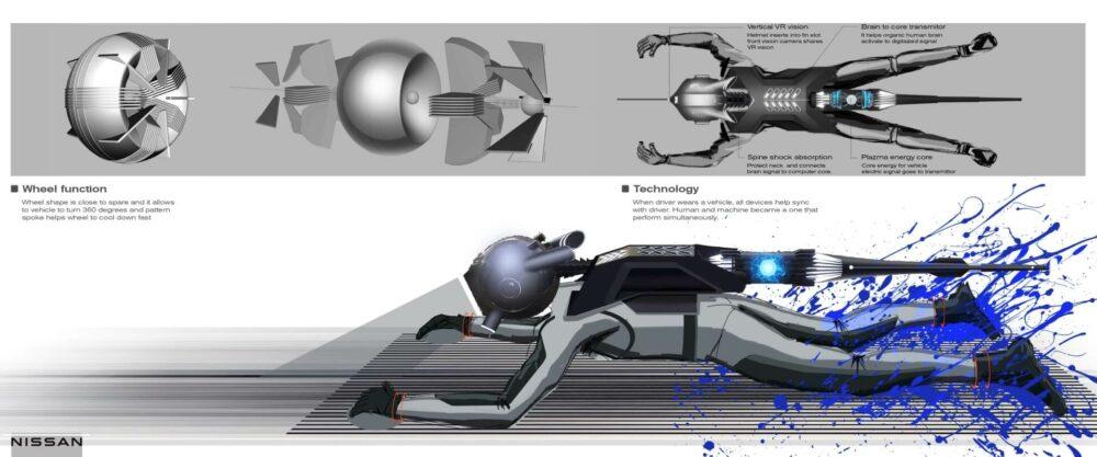 日産GT-R(X)2050 乗車時のイメージ