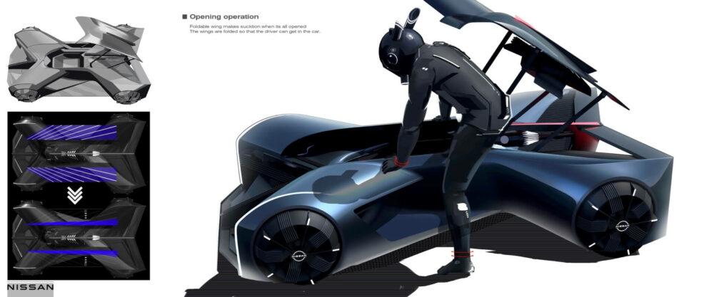 日産GT-R(X)2050 乗り込み方