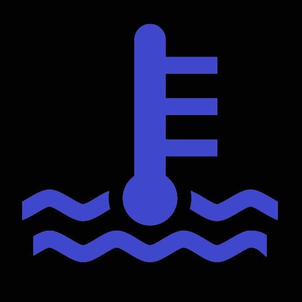 水温警告灯(青)のマーク
