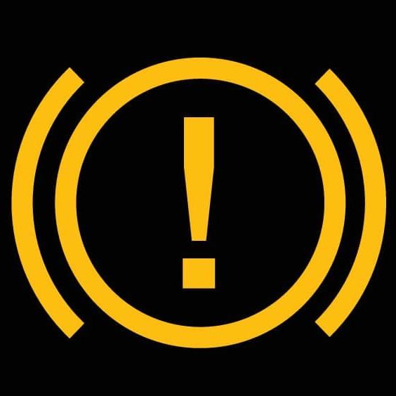ブレーキ警告灯(黄)のマーク