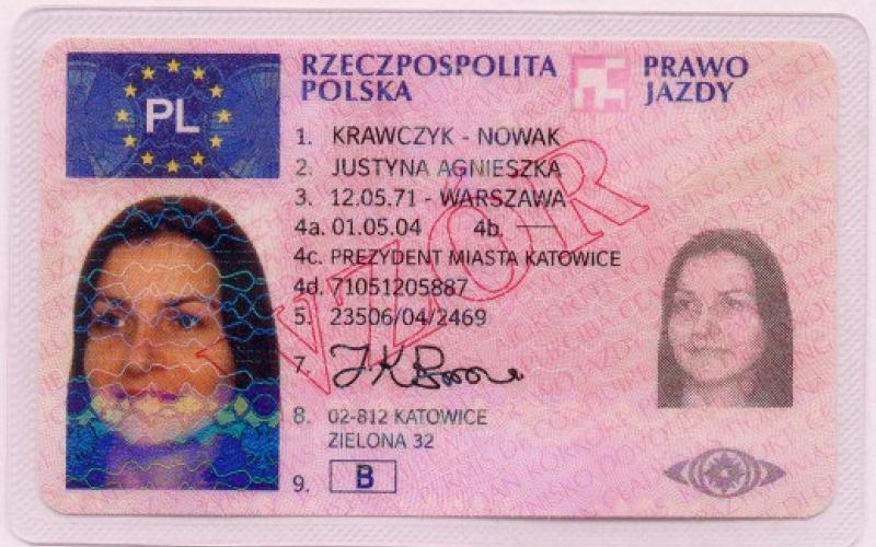 2013年まで使用されていたポーランドの運転免許証