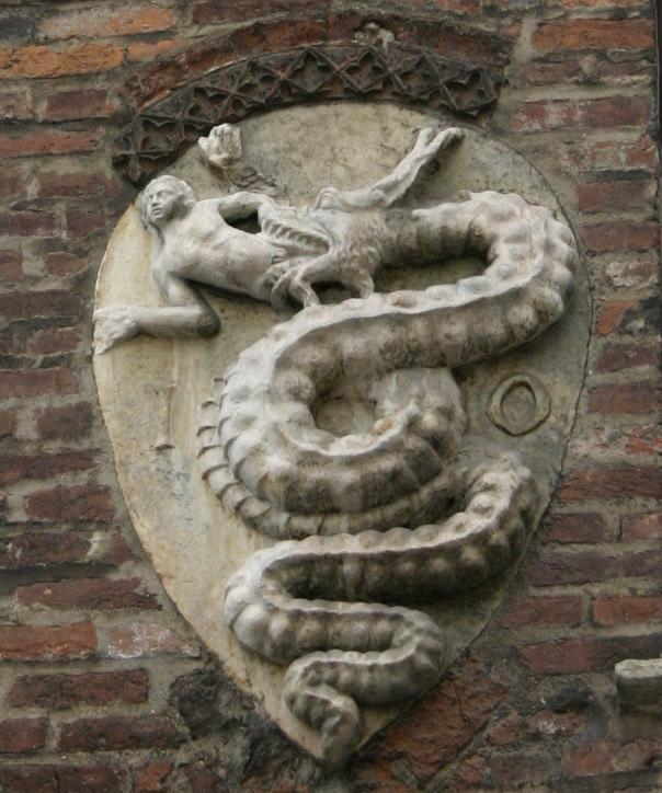 アルファロメオのエンブレムのもととなったヴィスコンティ家の紋章
