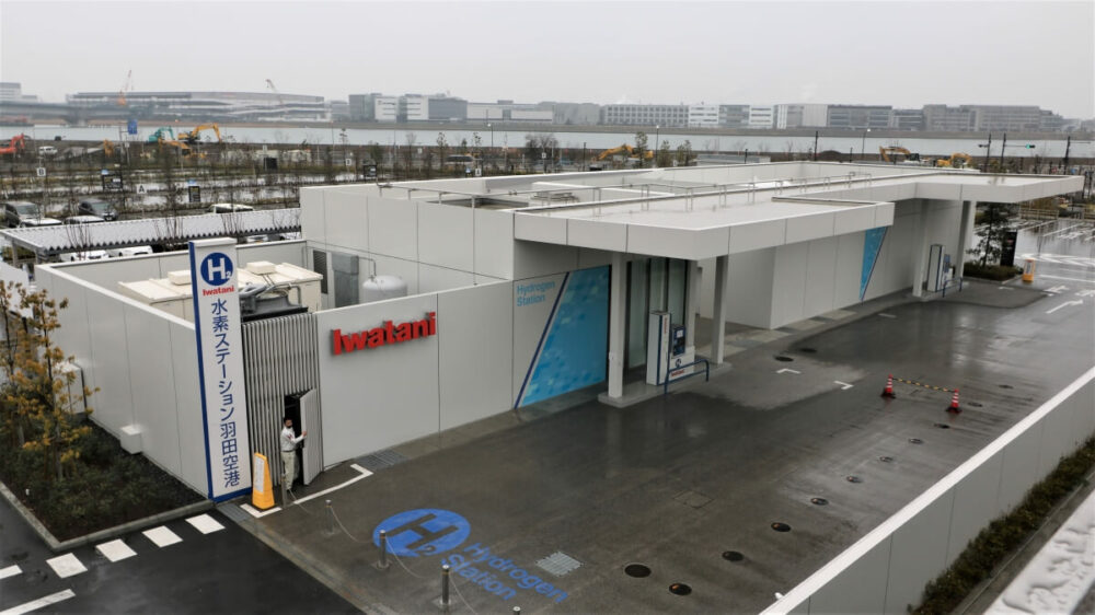 羽田イノベーションシティ構内にある水素ステーション