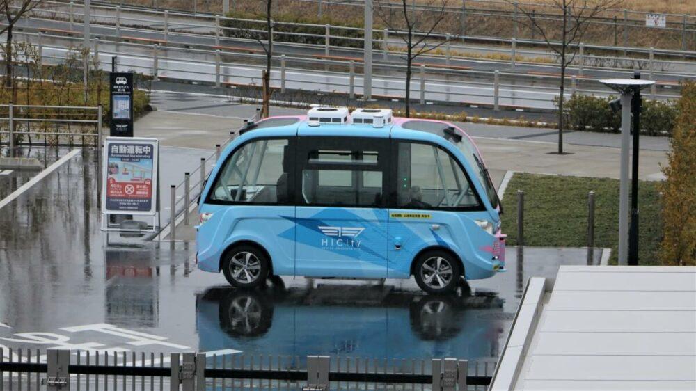 羽田イノベーションシティを巡航するARMA