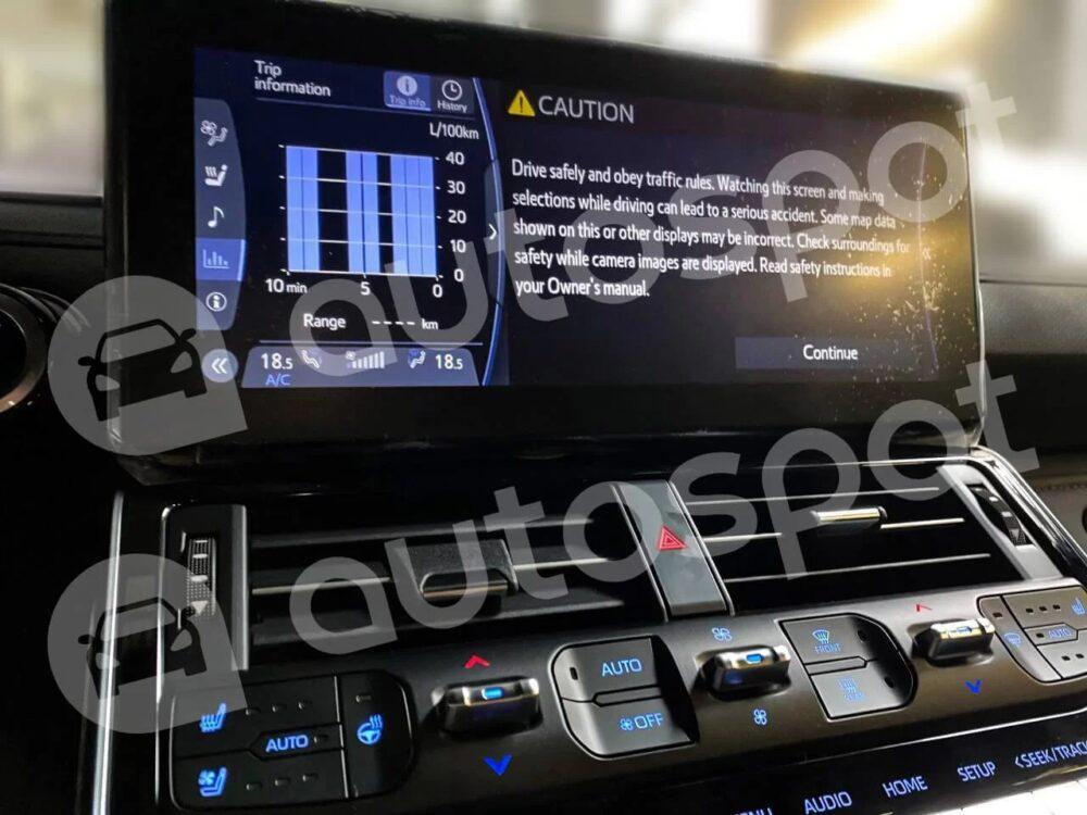 トヨタ 新型ランドクルーザー 300系 ディスプレイ